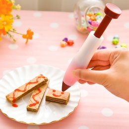 Kitchen Decorators Australia - Food Writing Silicone Pen Chocolate Decorating tools Cake Mold Cream cup cookie Icing Piping Pastry Nozzles kitchen accessories 180410