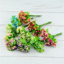 Pearl flower favor box online shopping - 10pcs Pearl Artificial Flowers Stamen Wedding Favor Box Decor Beads Flower Diy Handmade Flowers Wedding Supplies Flower