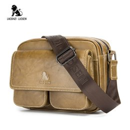 $enCountryForm.capitalKeyWord Canada - Genuine Leather Male Fashion Men Shoulder Bag Vintage Messenger Bag Small Cowhide Crossbody Casual Double Zipper Luggage