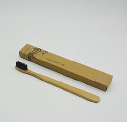 Wholesale 100 Bamboo Environmentally Toothbrush Wood toothbrush Novelty Bamboo soft bristle Capitellum Bamboo Fibre Wooden Handle