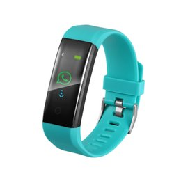 $enCountryForm.capitalKeyWord UK - 115Plus Smart Wristbands Wearable Bracelets Heart Rate Touch Operation Clock Color Screen For iPhone IOS and Android Smart Mobile Phone