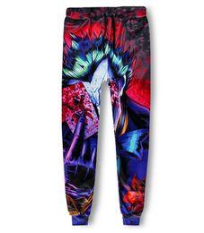 Wholesale jokers pant online – design Casual Pants Men Fitness Legging Trousers Harajuku Dark Knight Joker D Print Sweat Harem Pantalones Hip Hop Joggers Sweatpants AMS021