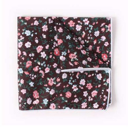 printed floral cotton handkerchiefs NZ - VEEKTIE Men's Suits Cotton Handkerchiefs Floral Printing Pocket Square Hankies Men's Business Casual Square Pockets Hanky