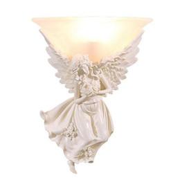 $enCountryForm.capitalKeyWord UK - Resin Angel Bedsides Wall Lamp Creative Fashion Glass Living Room Wall Lamp Hallway Blacony Wall Sconce