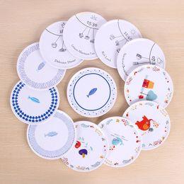 japan kitchen 2019 - 6.5inch Cartoon Animal Melamine Pad Kitchen Non-slip Mats Circular Cup Bowls Placemat Table Decoration ZA6645 discount j