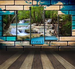 waterfalls paintings hd NZ - Waterfall -2,5 Pieces Home Decor HD Printed Modern Art Painting on Canvas (Unframed Framed)