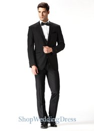 $enCountryForm.capitalKeyWord Canada - king Custom Made ! Best selling classic one button black slim fit wedding men's suits exquisite tailoring (Jacket+Pants)