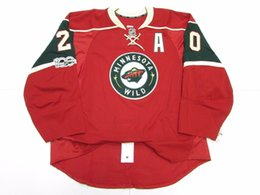 Hockey jersey suter For Sale - Cheap custom Ryan Suter MINNESOTA WILD HOME TEAM ISSUED th ANNIVERSARY JERSEY stitch add any number any name Mens Hockey Jersey XS XL