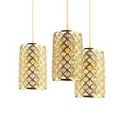 $enCountryForm.capitalKeyWord Australia - Nordic Pendant lamps LED Loft Pandant light Crystal Suspended Lamp Lusters Home Deco for living room bar cafe droplight fixtures