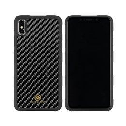 iphone carbon white NZ - wholesale for iPhone XS XS MAX XR Case Cover Shockproof Real Carbon Fiber+PC for Apple iPhone XS Max 6.5 inch Screen Black