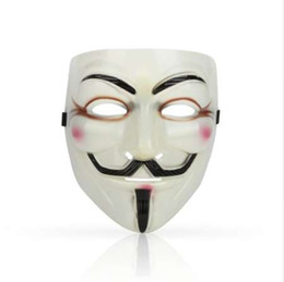 V Vendetta Cosplay UK - 1PCS Hot Selling Party Masks V for Vendetta Mask Anonymous Guy Fawkes Fancy Dress Adult Costume Accessory Party Cosplay Masks