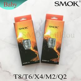 SMOK TFV8 Baby Coil Head Replacment T8 X4 T6 Q2 M2 Bobina Bestia Motor Core para H PRIV Mini 50w Kit