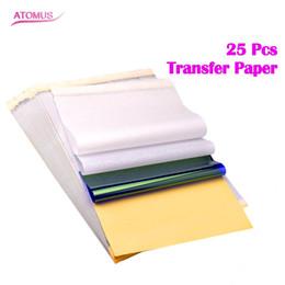 Dövme Transfer Kağıdı 25 Sayfalık Dövme Termal Stencil Transfer Kağıdı A4 Freehand Termal Kopyalama Makineleri için boyutu