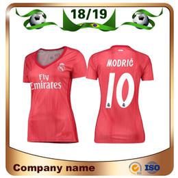 Discount real madrid green uniform - 2019 Real Madrid Red Woman Third Soccer Jersey 18 19 #10 MODRIC #8 KROOS Girl Soccer Shirt SERGIO RAMOS ASENSIO ISCO 3rd
