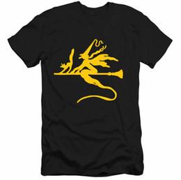 Tee gifT online shopping - Men T shirts Witch Cat Broom Silhouette HALLOWEEN Gift Tee Men Women Couples T shirt Size S XL