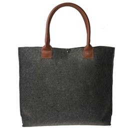 Leather Promotional Gifts Australia - Pu Leather Handle Felt Gift Bags & Promotional Dark Grey Shopping Bag 4579
