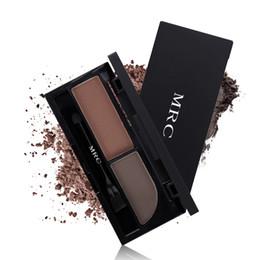 Sleek Makeup Palettes UK - New Brand Double Color Eyebrow Powder Palette Mineral Sleek Makeup Waterproof Long Lasting Eye Brown Kit with Brush Tool