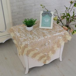 $enCountryForm.capitalKeyWord NZ - Wholesale Modern minimalist elegant home square lace embroidered desk and table cloth, four different types of style embroidery