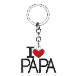 wholesale fathers day gifts 2019 - I Love Mom Key Rings Silver Plated Keyring Zinc Alloy Keychain Fashion Jewelry Mothers Day Fathers Day Gifts 4 Styles ch