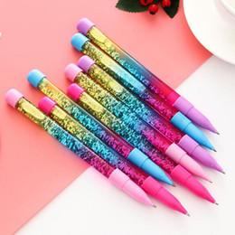 $enCountryForm.capitalKeyWord Australia - 0.5mm Rainbow Color Creative Pen Fairy Wand Pen Ballpoint Drift Sand Flash Crystal Student Girl Gift Randomly Sent