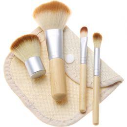 Gift sets cosmetics online shopping - Hot New makeup brushes makeup brush set Bamboo stalk Cosmetic brush sets DHL shipping Gift