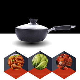 Wok cookWare online shopping - Non Stick Cookware Stone Layer Frying Pan Family Small Wok For Children Saucepot Type Optional Apply To Electromagnetic Oven Cooking Pan