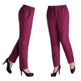 c1a4a81311635 Femmes Hiver Taille Haute Élastique Épais Duck Down Pantalon Femme Hiver  Surdimensionné Chaud Usure Extérieure Épaisse Bas Pantalon Slim Skinny