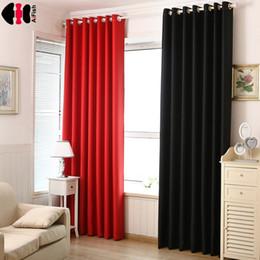 Red Cloth Curtain Australia - Black Thick curtain fabric Crystal Blind blackout curtains red Coffee house curtain Sun shade Drape Cloth Door WP092B
