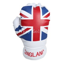 online shopping England Union Jack Boxing Glove Wood Golf Club Driver Headcover UK Flag Driver Cover