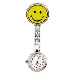 Nurse clocks online shopping - Lovely Smile and pada design fashion nurse doctor FOB pocket watches unisex women ladies Medical professional hospital clock watches