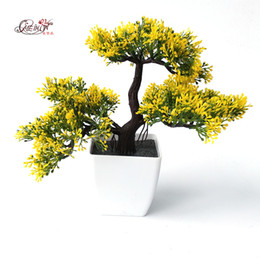 Plants Decorative NZ - Welcoming Pines Artificial Flower Tree Artificial Plant Bonsai Green Plants For Decorative Interior Office Decorative Flowers