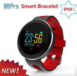 $enCountryForm.capitalKeyWord Australia - Q8 Pro Smart band Wristband Blood Pressure Heart Rate Monitor Sports Smart Bracelet Waterproof Motion tracking Wristwatch smart watch