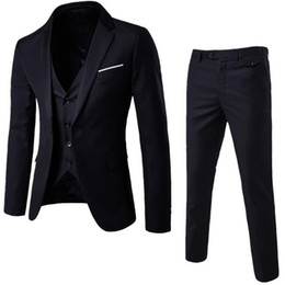 NIBESSER Mens 3 Stücke Blazer Hosen Weste Sozialen Anzug Männer Mode Solide Anzug Set Beiläufige Herren Formale Anzüge Plus Size5XL