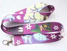 japanese phones 2019 - new Free shipping 10pcs cartoon Japanese anime hippo key long lanyards id badge holder key chains straps for mobile phon