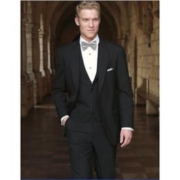 Discount bridegroom wedding suits grey - New Style Groom Tuxedo Two Buttons Groomsmen Notch Lapel Wedding Dinner Suits Best Man Bridegroom (Jacket+Pants+Tie+Vest