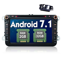 "vw passat gps radio android UK - Eincar Android 7.1 Octa Core 2GB+32GB 8"" 1024*600 Double Din Car dvd Stereo for VW Golf Skoda Passat Jetta HeadUnit Car Radio"