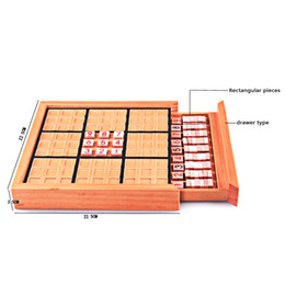 Sudoku toyS online shopping - Building Kits Block Wooden Sudoku Puzzle Children Adults Bricks Thinking Number Board Jigsaw Table Game Educational Learning Toy Gifts