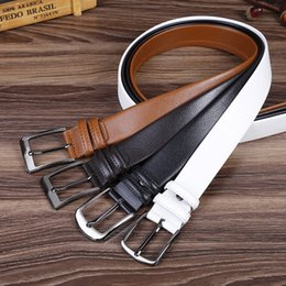 $enCountryForm.capitalKeyWord Canada - Best quality designer brand name fashion Men's Business Waist Belts Automatic buckle Genuine Leather belts For Men 105-125cm free shipping