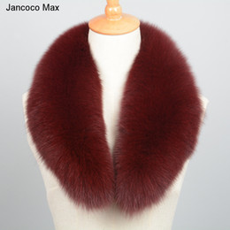 $enCountryForm.capitalKeyWord NZ - Jancoco Max 2018 New Long Real Fox Fur Collar Scarf Women & Men Spring Winter Warm Solid Jacket Coat Shawls Lining 75cm S7102 Y18102010