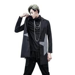 Discount gothic steampunk clothing - Long Black Trench Vest Coat Men Jacket Spring Steampunk Greatcoat Gothic Mens Overcoat Slim Sobretudos Homens Men Clothe