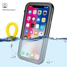 $enCountryForm.capitalKeyWord Australia - wholesale Waterproof Case For iPhone XS MAX IP68 Series Diving Underwater Shockproof Dust Proof Protective Cover for iPhone X XS