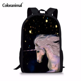 kid backpacks pink purple Canada - Coloranimal Funny Dabbing Horse School Bags for Teens Boys Girls Dab Panda Kids Book Bag Children Schoolbag Horse Backpacks