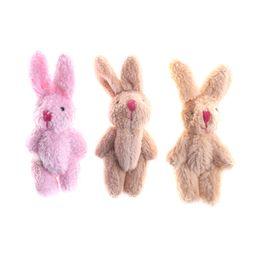 Cute Mini Soft Rabbit Pendant Plush Bunny For Key Chain Bouquet Toy Doll  DIY Ornaments Gifts 8d84394c1674