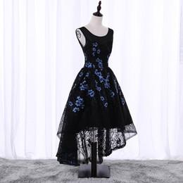 df913bb54a90 muestra real A Line Vestidos de fiesta de encaje negro de Hi-Lo Vestidos de  fiesta atractivos Vestidos de noche
