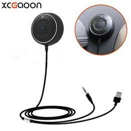 Wholesale XCGaoon NFC Bluetooth Handsfree Car Kit Speakerphone for iPhone For Samsung fit of Mobile cell phone Can Pair by NFC