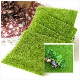Wholesale Creative Emulation Micro Landscape Grass Mat Green Artificial Lawns x15cm Small Turf Carpets Home Garden Floor Decorations