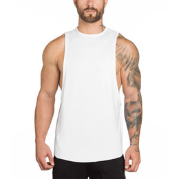 90b198ed54ff Sleeveless Mens Bodybuilding Tank Tops Workout Fitness Stringer 2018 Summer  Male Oversized Singlet Shirts Camiseta Masculina
