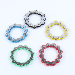 stress chain UK - 12 section Good Quality Roller Bike Chain Fidget Toy Stress Reducer for ADD ADHD Anxiety Autism Adults Kids Decompression Toy
