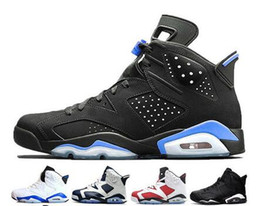 basketball shoes kids 12 NZ - Designer Men Women Kids 6 Basketball Shoes Tinker Trainers Sneaker UNC Blue Black Cat White Infrared Red Carmine Maroon Mens Sports Sneakers