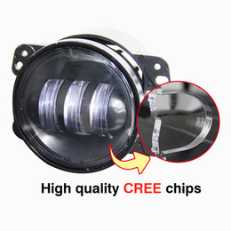 China hotsale 4 Inch LED Headlight Fog Light With Angel Eyes 3000LM DRL For Ford Focus Jeep Wrangler Jk Harley Offroad Car styling 12V cheap fog lights ford focus drl suppliers
